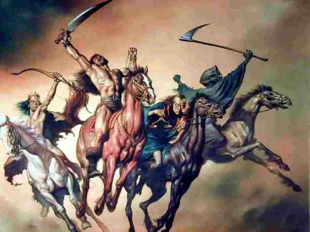 4 horse men