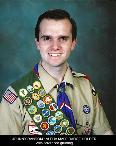 Alpha male badge